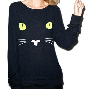 NWOT Wildfox black cat BBJ size M (2014)